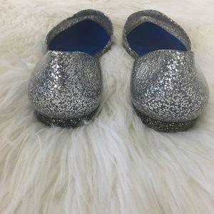 Jeffrey Campbell Shoes - Jeffrey Campbell Silver Glitter Jelly Love Flats